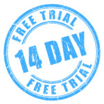 14-day free trial stamp